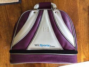 Nintendo Wii Brunswick Bowling Bag Carrying Case - Wii Sports Edition - Purple