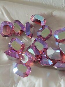 K.S. Swarovski Rhinestone Rose AB 10x8 MM Art. 176/1 Now Art. 4600 Mint Pack