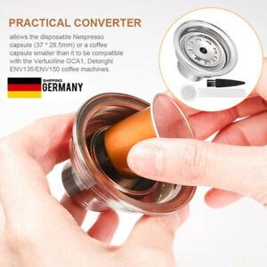 Delongh Edelstahl Kaffeekapsel Adapter Filter Pod Konverter Für Nespresso Vertuo