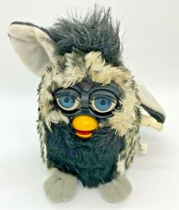 Vintage 1998 Furby Model 70-800 Black Fuzzy Hair FOR PARTS