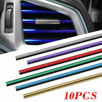 10 Teile Auto Zubehör Bunte Klimaanlage Luftauslass Ausgang Dekoration Streifen