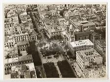 Tunis : place de la résidence et la cathédrale, c. 1935 - Photo ancienne Tunisie