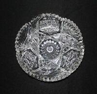American Brilliant Period Cut Glass Low Bowl