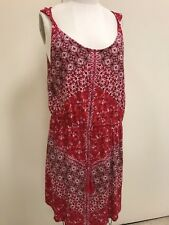 Lucky Brand Floral Multi Red Twist Strap Dress XL NWT - $69.50