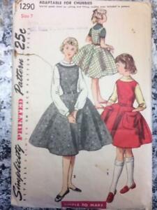 Vintage Girls DRESS/JUMPER, size 7, complete sewing pattern*
