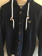 Voi Jeans Navy buttoned hoodie S