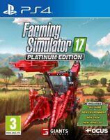 Farming Simulator 17 Platinum Edition PS4 * NEW SEALED PAL *