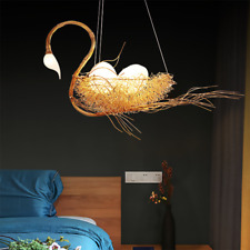 Gold Aluminum Swan Nest Chandelier LED Pendant Lamp Egg Lighting Fixtures New