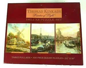 Thomas Kinkade Painter Of Light Deluxe Puzzle 500 Piece Puzzles