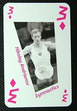 1 x playing card London 2012 Olympic Legends Nikolay Andrianov Gymnastics 3D