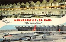 Minneapolis-St. Paul International Airport, MN Twin Cities Vintage Postcard