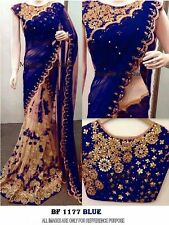 Latest Indian Wedding Sari Designer Georgette Partywear Saree with Blouse Bf1351