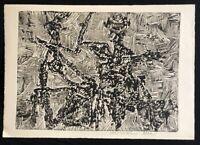 Hermann Ober, Ohne Titel, Prägedruck, um 1960,  handsigniert