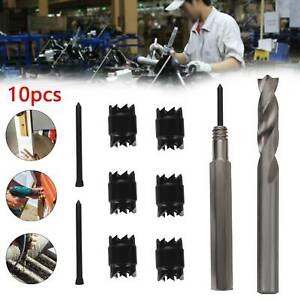 10PCS Cutter 3/8'' Rotary Sided Weld Remover Cut Weld Spot Drill Bits Double  UK