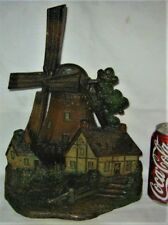 ANTIQUE 1926 A.M. GREENBLATT STUDIOS BOSTON MA USA WINDMILL CAST IRON DOORSTOP
