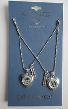 x Friends Forever Heart crystal Bf4ever friendship NECKLACE claires jewelry
