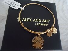 Authentic Alex and Ani  PRINTS OF LOVE Russian Gold Bangle New W/Tag Card & Box