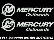 mercury outboard motor decal stickers x2 car ute boat trailer