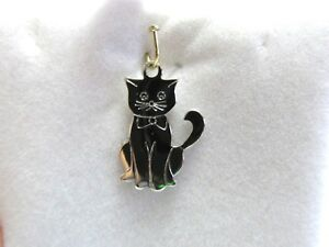 10 Cat Charms Antique Silver Tone Arched Back Ideal for Halloween SC1522