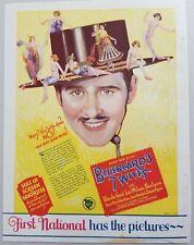 "1925 Silent Movie Ad ""Bluebeard's Seven Wives"" Ben Lyon,Lois Wilson,BlancheSweet"