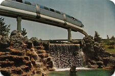 Oversized Disneyland Postcard Monorail Train System in Tomorrowland~115380