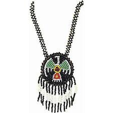 Native American Indian Pendant Beaded Fringe Necklace Costume Jewelry