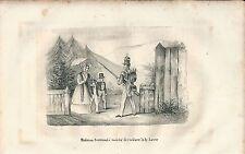 1846 BERTRAND Hortense INIBITA DI VISITARE  LOWE litografia Napoleon Sant'Elena
