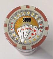 42 different LASER and HOLOGRAM Lot E poker chip samples