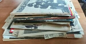 3 LBS. of Vintage 1960's Beatles Scrap Book photos With Rare Pics and Clippings