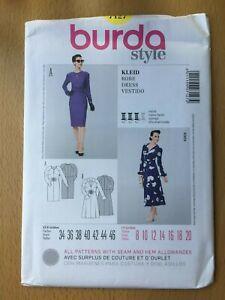 New Unused Burda Sewing Pattern Dress  Size 8-10-12-14-16-18-20