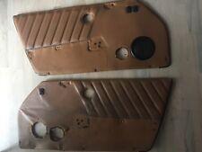 porsche 911 front door panels w/switches BROWN OEM 74-89