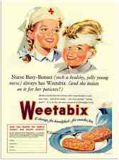 More details for metal sign 1722 weetabix breakfast nurse 1950s a3 16x12 aluminium