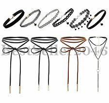 10Pcs Gothic Punk Velvet Tattoo Lace Choker Collar Pendant Women Girls Necklaces