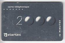 FRANCE  TELECARTE / PHONECARD  PREPAYEE .. 46MN STARTEC ARGENT AN 2000 06/01 +N°