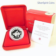 2001 YEAR OF THE SNAKE LUNAR 1/2oz SILVER Proof Coin Series I