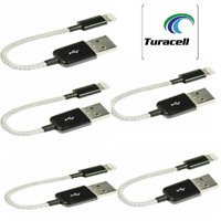 5 x iEssentials 4-Inch Tangle-Free USB Cable For I-Phone 6/7/8/X/XI