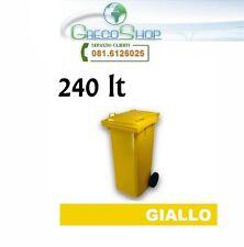 Pattumiera/Contenitore/Bidone per raccolta rifiuti uso esterno 240 litri Giallo