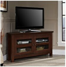 Corner TV Stands For Flat Screens 44 Inch Media Console Brown Entertainment