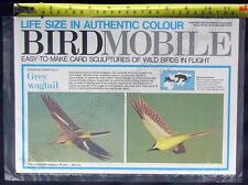 Bird Mobile Card Model / Sculpture Grey Wagtail