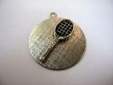 Vintage Collectible Pendant Charm Keychain: TENNIS RACKET RACQUET