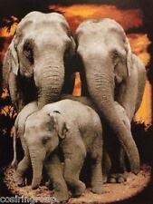 "LARGE 3 ELEPHANTS Counted Cross Stitch Kit- Size 19.5"" x 25"" DIY- FREE SHIPPING"