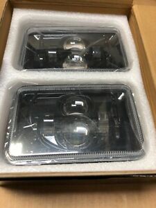 "2PCS 45W 4""X6"" Rectangular LED Headlights Hi Lo Clear Sealed Beam Truck For Mack"