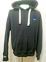 Superdry Orange Label Pullover Hoodie Black Asian Size XL LN Condition
