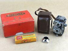 Gemflex Sow Showa Subminiature MIOJ Camera w/ Box, Lens Hood & film Rolls