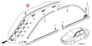 New Genuine Honda Accord Roof Drip Side Molding Assembly Right OE 73152SDAA01