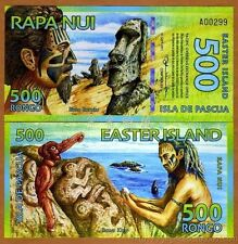 EASTER ISLAND 2012 year 500 Rongo Polymer BrandNew Banknote