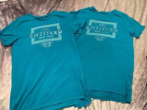 Twin Boys River Island T-shirts age 11-12