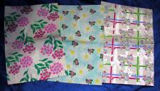 "VTG 1950S 3 sheets UNUSED GIFT WRAPPING PAPER, FLORAL, CRAFTS, 20"" BY 26"""