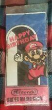 Vintage Deadstock 1980s Super Mario Bros Extra Large Paper Tablecloth NIB