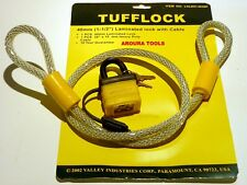 BIKE LOCK STEEL CABLE WITH PADLOCK - PVC COVERED WEATHERPROOF - NEW